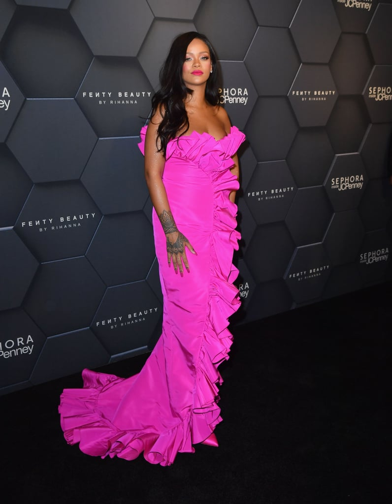 Rihanna\'s Pink Dress at Fenty Beauty Anniversary | POPSUGAR Fashion