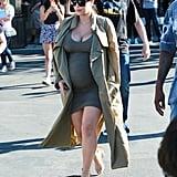 Kim Kardashian and Kanye West Catch a Movie Together in LA
