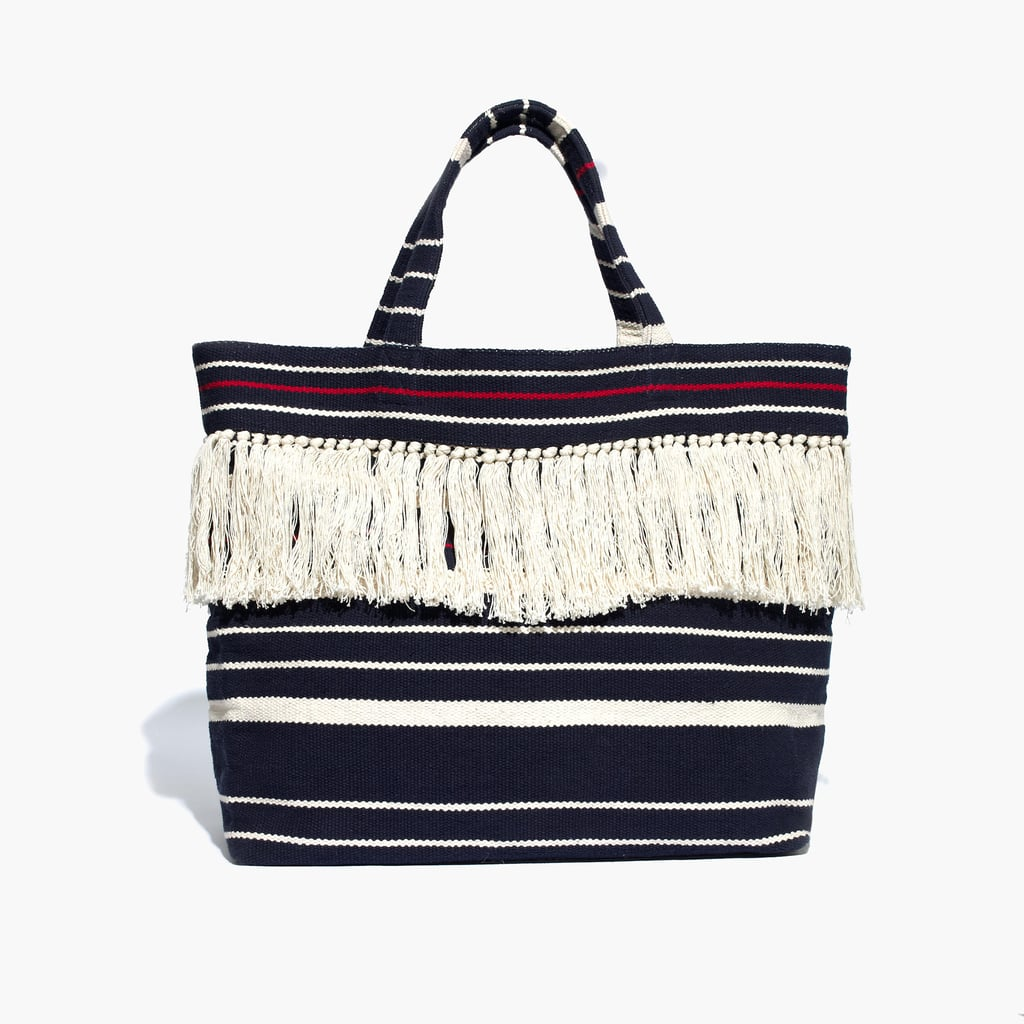 Beach totes should be roomy enough for all your essentials and cool enough to tow around in the city, too — this Madewell Riveria tote ($78) fits the bill for under $100. — Hannah McKinley, editor
