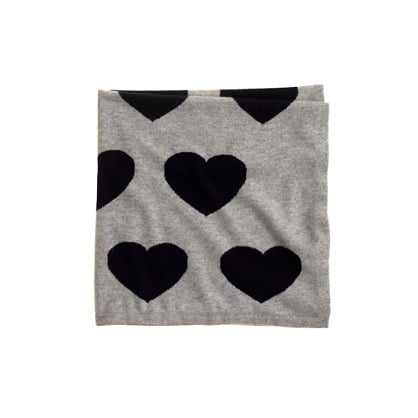 Collection Cashmere Baby Blanket in Dusk Navy Heart Stack ($198)