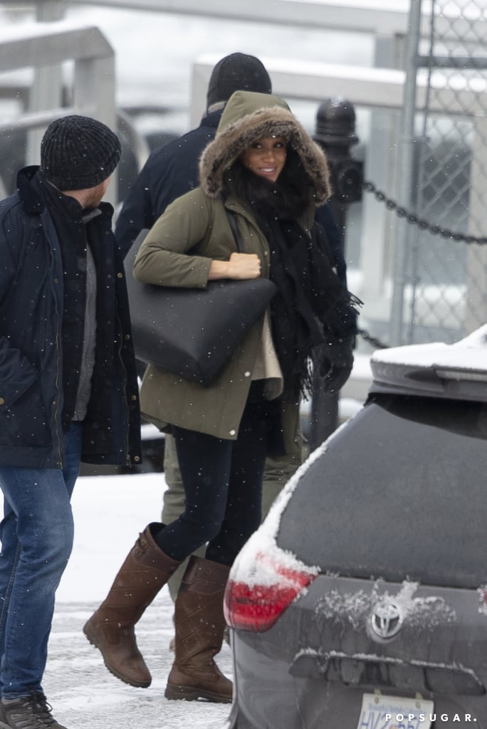 Meghan Markle Seen in Canada Carrying a Black Tote Bag