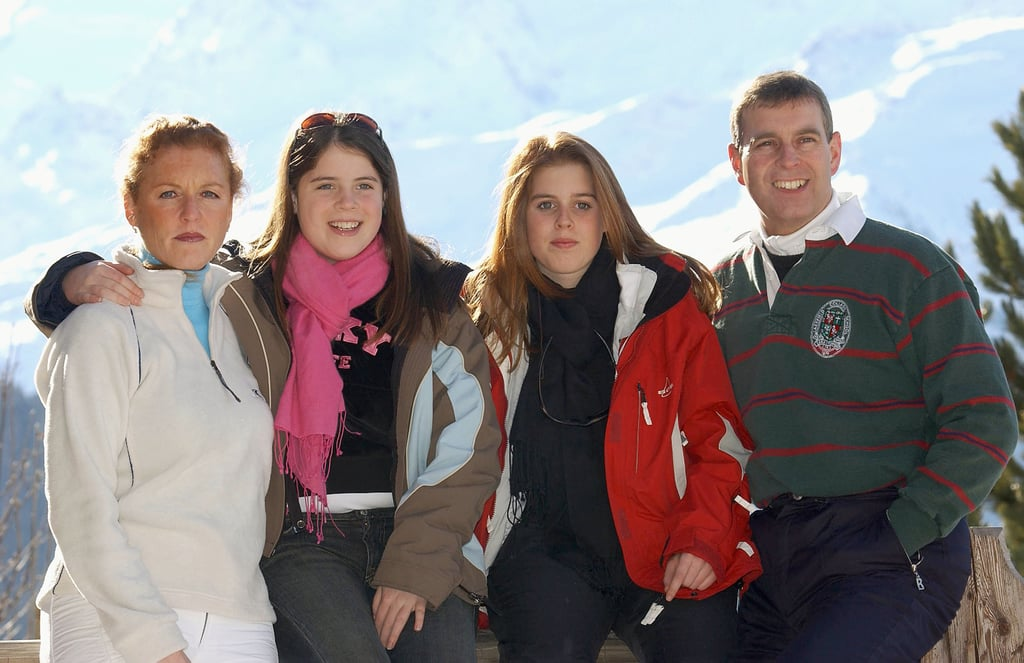 The Duke and Duchess of York in Verbier, Switzerland, With Their Daughters in 2003