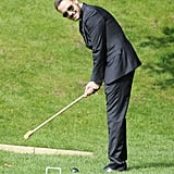 Liam Payne played croquet at the wedding of Louis Tomlinson's mom in Doncaster, England, on Sunday.