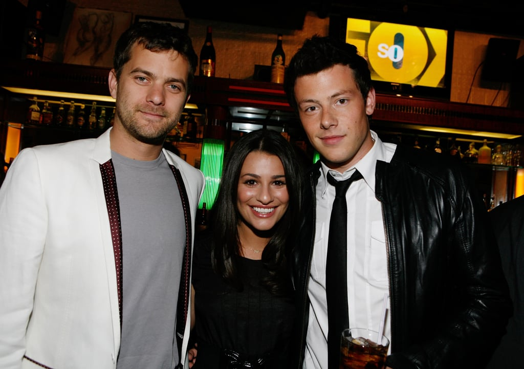 Lea and her late boyfriend, Cory Monteith, posed with Joshua Jackson at Fox's Upfront presentation in NYC back in May 2009.