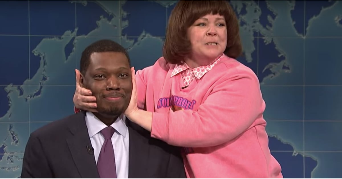 PopsugarEntertainmentMelissa MccarthyMelissa McCarthy on SNL Weekend Update Video May 2018Melissa McCarthy Takes Over SNL With a Surprise Cameo That Has Us Cry-LaughingMay 13, 2018 by Terry Carter0 SharesChat with us on Facebook Messenger. Learn what