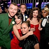 Sam Smith, Camila Cabello, Brandon Flynn, Sofia Cabello, Lorde, and Janelle Monáe posed for a group snap in 2018.