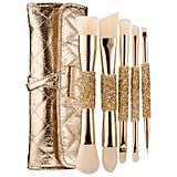 """Every girl loves makeup and diamonds — these makeup brushes are the ultimate combo! These pretty and functional double-ended brushes are so great for travel. I would love to get these as a gift or a stocking stuffer myself.""   Sephora Collection Double Time Double Ended Brush Set ($74)"