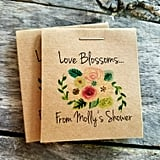 Mini Personalized Flower Seed Packets ($13 for a set of 20)