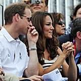 Prince William and Kate Middleton cheered on Zara Phillips.