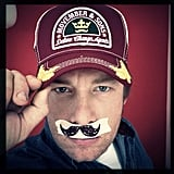 Jamie Oliver slapped on a mustache. Source: Instagram user jamieoliver