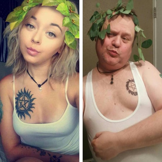 Dad Recreates Daughter's Selfies