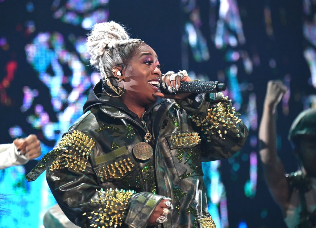 "In case you've forgotten that Missy Elliott is unf*ckwithable, please look toward her mind-boggling MTV Video Vanguard performance at the 2019 VMAs and get with the program! The 48-year-old took the MTV stage to perform for the first time since 2003, and it was pretty much everything a fan could ever dream of: an electrifying medley of her greatest hits (of which there are many) including ""The Rain (Supa Dupa Fly),"" ""Throw It Back,"" ""Get Ur Freak On,"" ""Work It,"" ""Pass That Dutch,"" and ""Lose Control."" Just like her iconic music videos, Elliott's performance gave us nostalgic dances, epic hairstyles, and elaborate sets that included cornfield imagery, a rainstorm, the surface of a fiery planet, a UFO, and more. To quote Cardi B, the performance was ""FIRE!"" (And possibly the best moment of the night.) MTV could have ended the show right then and we all would have gone to bed satisfied. Watch the incredible performance ahead, then keep scrolling to see choice moments from Elliott's set.      Related:                                                                                                           Missy Elliott Opens Up About Her New Music: ""There's No One Like Missy — No One"""