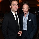 Robert and Eddie posed together at the HFPA Banquet in August 2014.