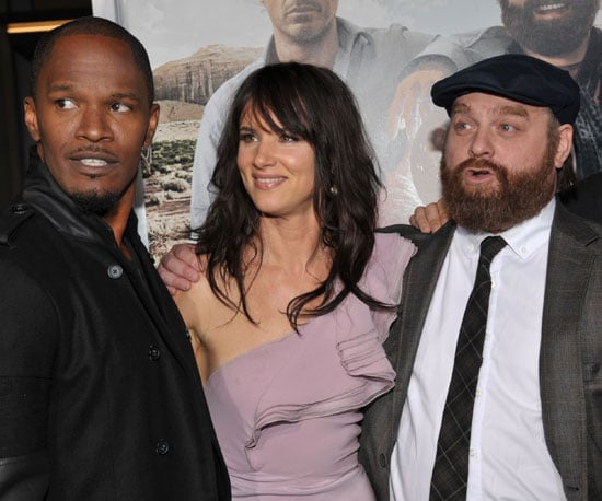 Slide Picture of Zach Galifianakis, Juliette Lewis, and Jamie Foxx at NYC Due Date Premiere
