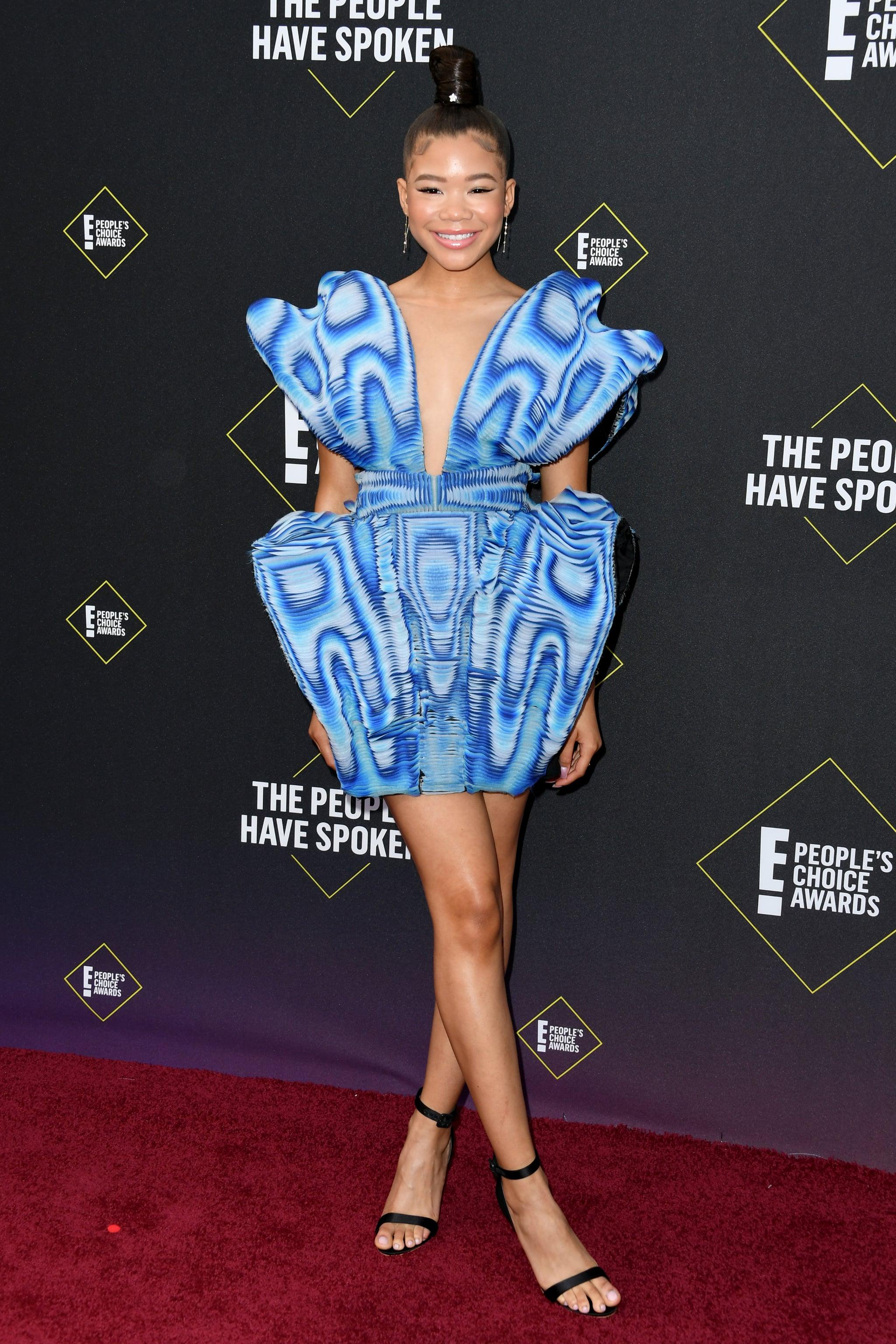 SANTA MONICA, CALIFORNIA - NOVEMBER 10: Storm Reid attends the 2019 E! People's Choice Awards at Barker Hangar on November 10, 2019 in Santa Monica, California. (Photo by Jon Kopaloff/FilmMagic)
