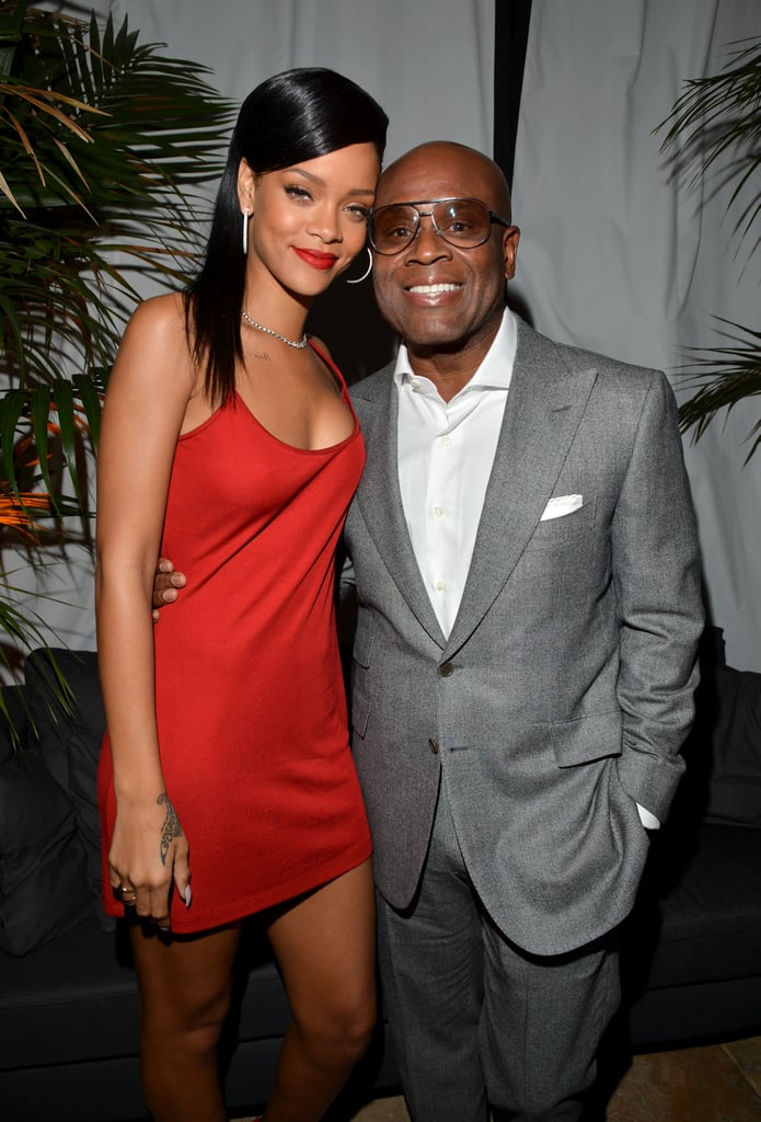 Rihanna hung out with L.A. Reid at GQ's afterparty.