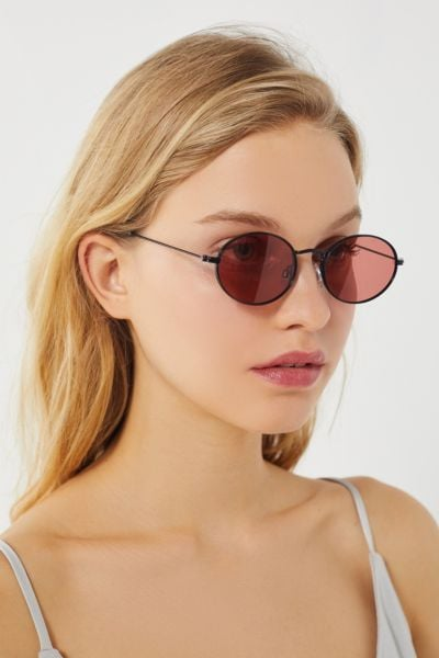 Urban Outfitters Oval Metal Sunglasses