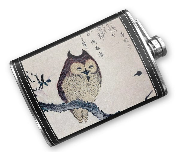 Stitched Owl Flask ($33)