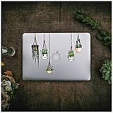 Illustrated Hanging Plant Laptop Stickers