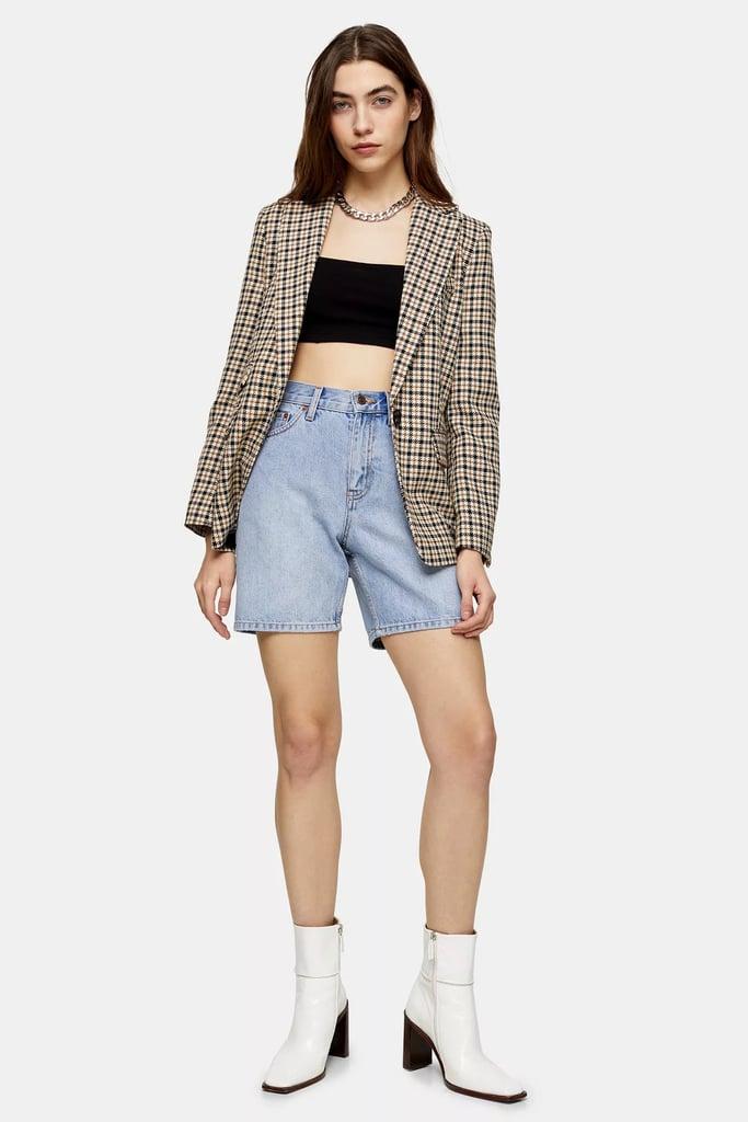 Topshop Mid Rise Denim Shorts