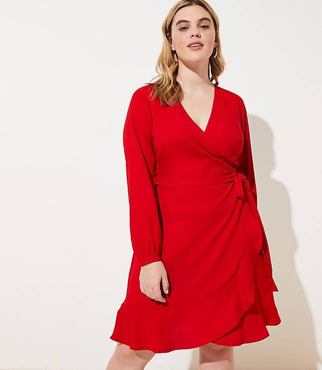 Loft Ruffle Wrap Dress