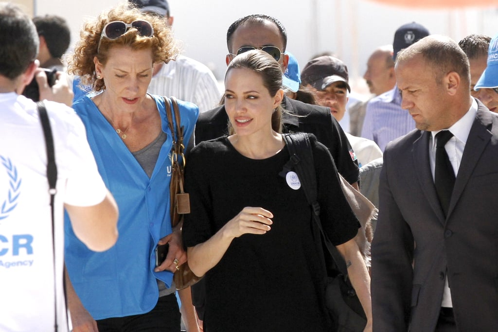 Angelina entered the Al Zaatari camp in Jordan.