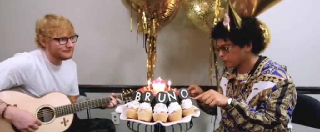 Ed Sheeran Singing Happy Birthday to Bruno Mars