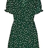 Faithful the Brand Mira Floral-Print Crepe Wrap Mini Dress