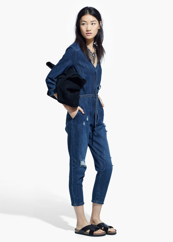 Mango Dark Denim Jumpsuit