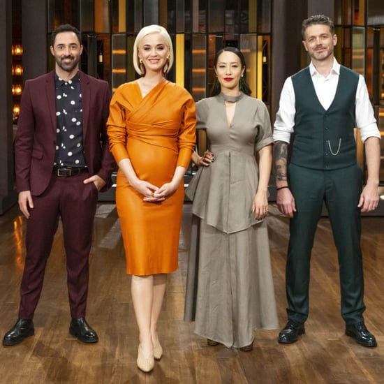 Katy Perry Orange Leather Bottega Veneta Dress Masterchef