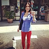 Bethenny Frankel enjoyed a free Slurpee from 7-11. Source: Instagram user bethennyfrankel