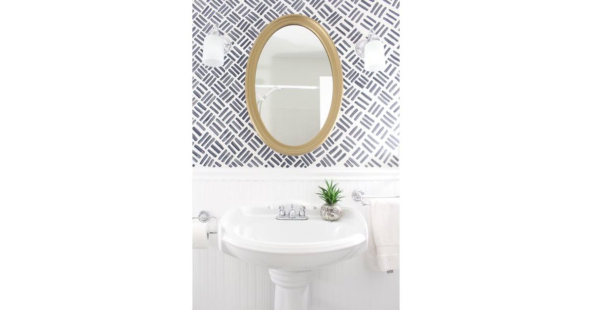 paint your own wallpaper diy bathroom updates popsugar