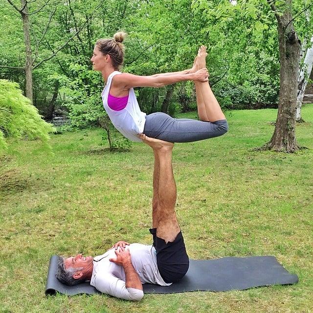Gisele Bündchen did some epic yoga. Source: Instagram user giseleofficial