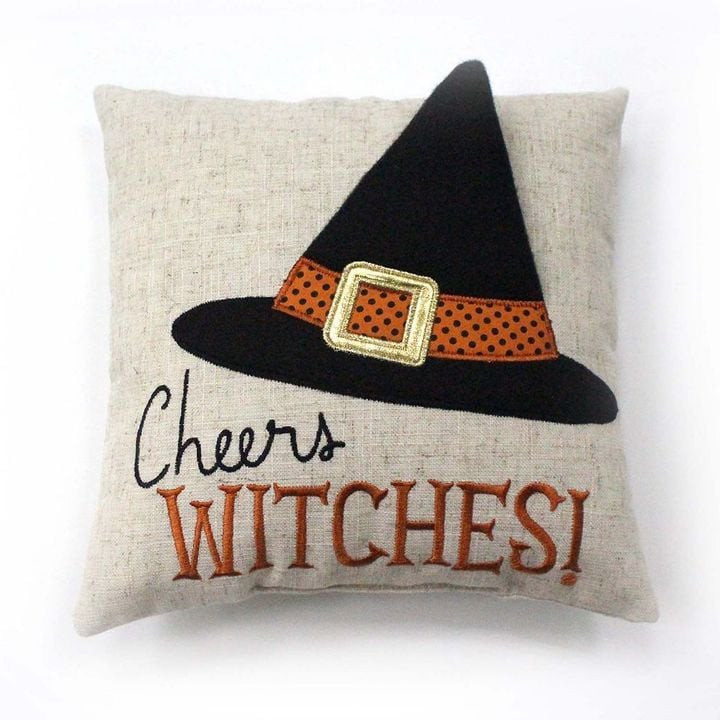Cheers Witches Mini Throw Pillow