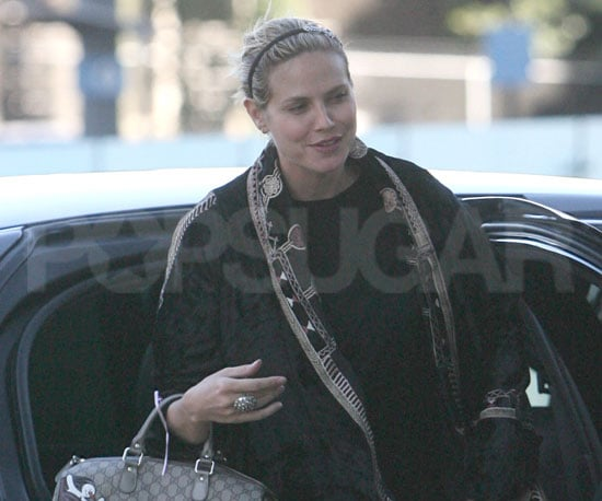 Slide Photo of Heidi Klum Before Her Big Halloween Party in LA