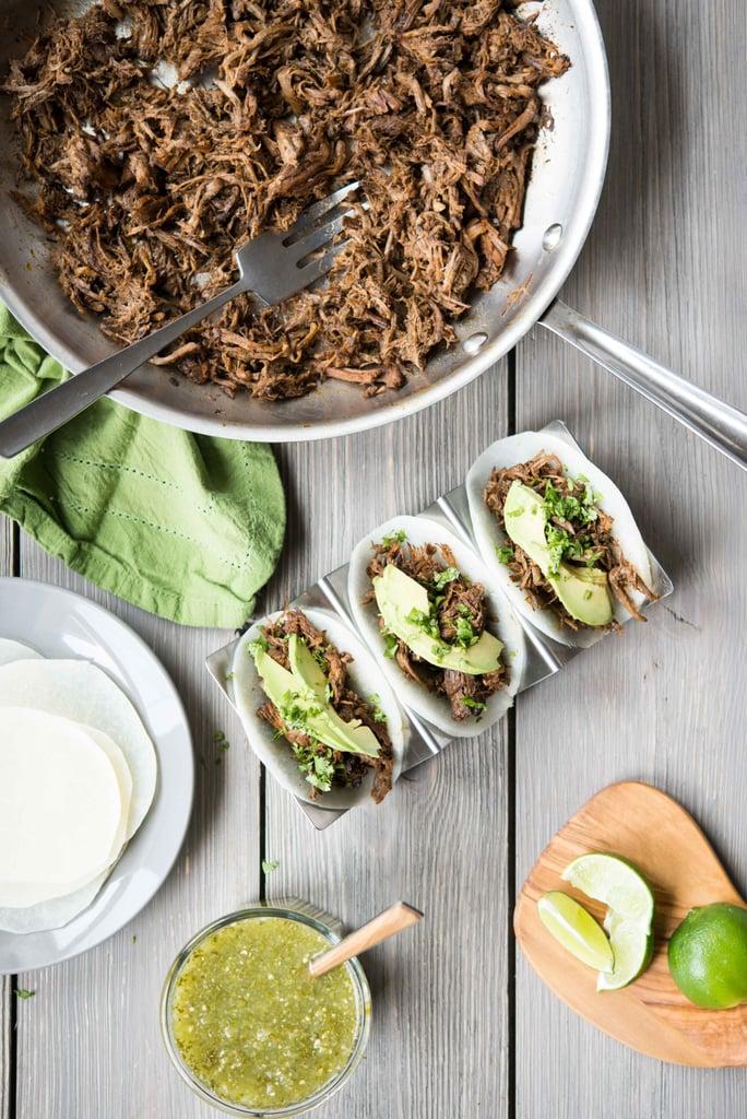 Slow-Cooker Barbacoa With Jicama Tortillas