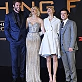 The Catching Fire cast couldn't stop laughing at the film's premiere.