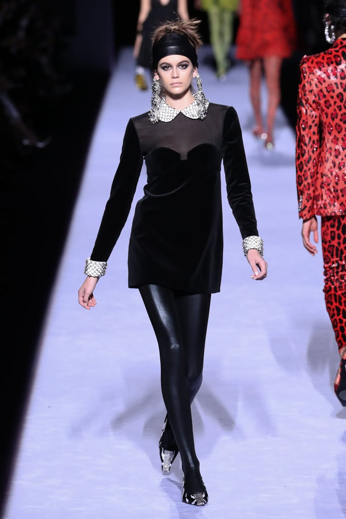 Kaia Made Her Debut at NYFW This Season by Walking on the Tom Ford Runway