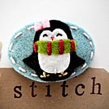 Miki Stitch Penguin Hair Clip