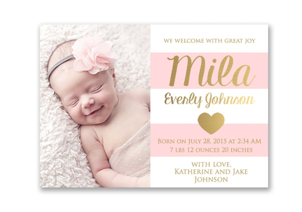 Etsy Birth Announcement Photo Cards – Baby Birth Invitation Card
