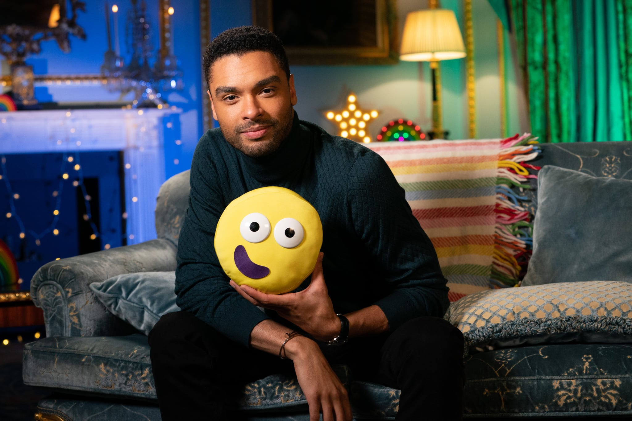 WARNING: Embargoed for publication until 00:00:01 on 11/03/2021 - Programme Name: CBeebies Bedtime Stories - TX: 14/03/2021 - Episode: Bedtime Stories - Regé-Jean Page (No. n/a) - Picture Shows: ***UNDER STRICT EMBARGO UNTIL 00.01 THURSDAY 11TH MARCH 2021*** Bedtime Stories - Regé-Jean Page reads Rain Before Rainbows by Smriti Halls Regé-jean page - (C) BBC  - Photographer: Pete Dadds