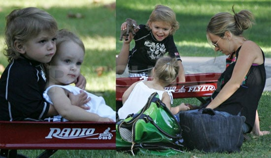 Photos of Kingston Rossdale and Ruby Maguire Together in a Wagon