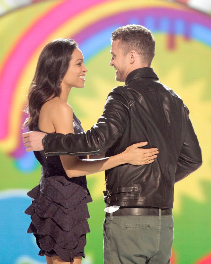 Justin Timberlake and Rosario Dawson presented together during the Kids' Choice Awards in 2011.