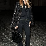 Rachel Zoe kept it simple in all black.