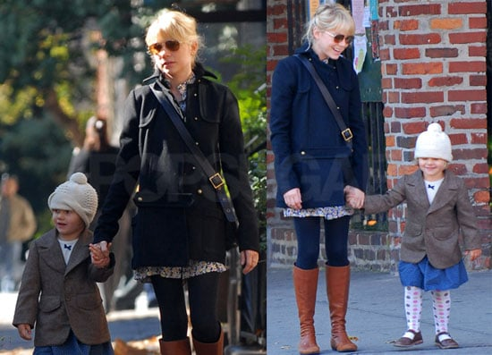Photos of Michelle Williams and Matilda Ledger in Brooklyn 2008-10-19 10:00:00