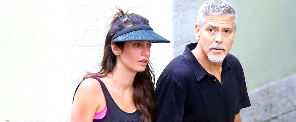 Amal Clooney's Sporty Sock Trick Will Take You Straight Back to the '90s