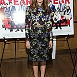 Rose Byrne made the prettiest arrival in a floral Erdem number at the I Give It a Year screening in NYC.