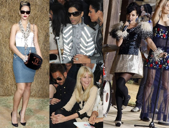 Photos of Lily Allen, Prince, Karl Lagerfeld, Claudia Schiffer, Rihanna at Chanel Paris Fashion Show 2009-10-06 11:00:44