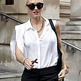Gwen Stefani was at her London home on her 42nd birthday.