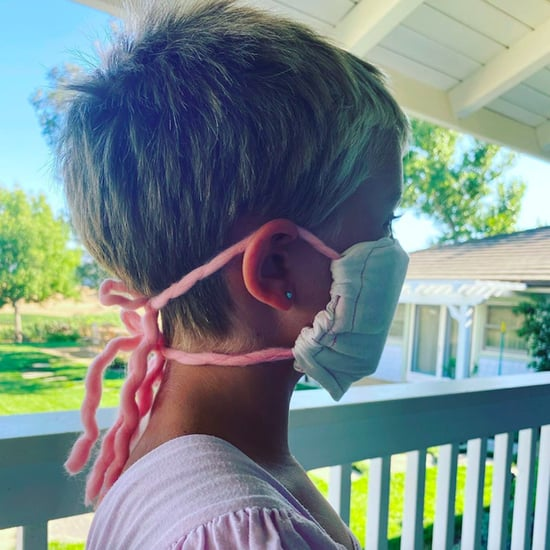 Pink Shares a Photo of Daughter Willow's Homemade Face Mask